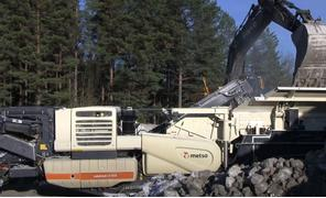 METSO mobile crushing plant Nordberg LT1213, DEMO