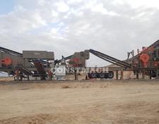 Constmach mobile crushing plant 120-150 tph CAPACITY MOBILE JAW and IMPACT CRUSHER